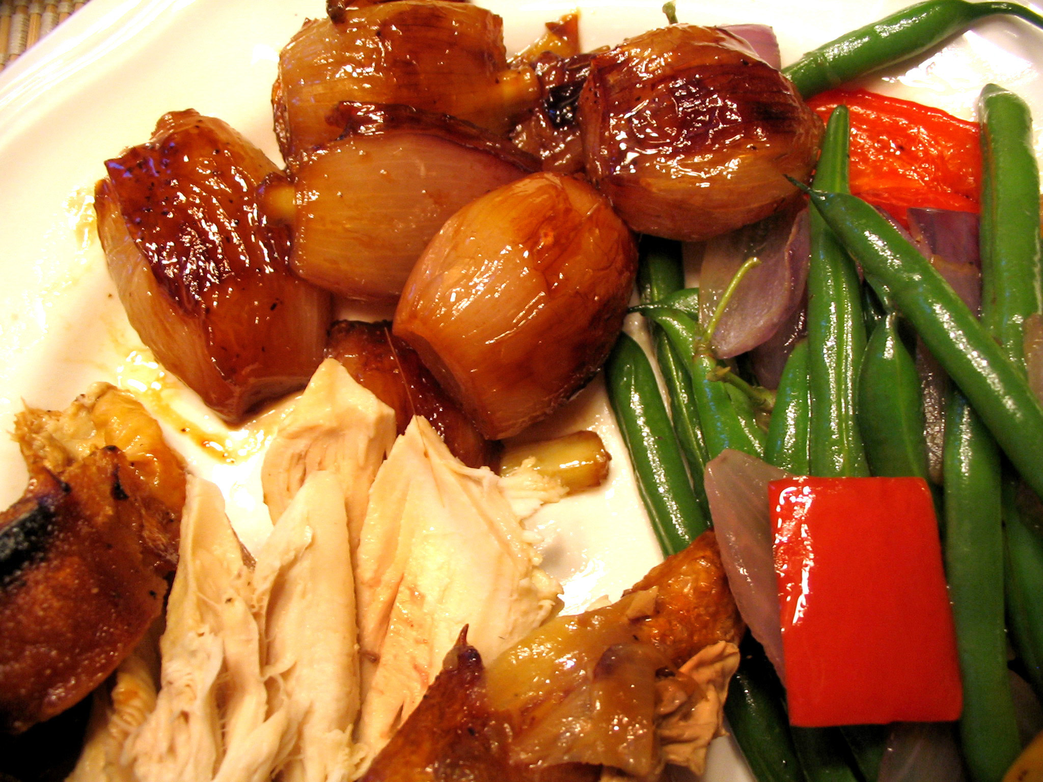 super easy roast chicken with caramelized shallots crispy potatoes ...